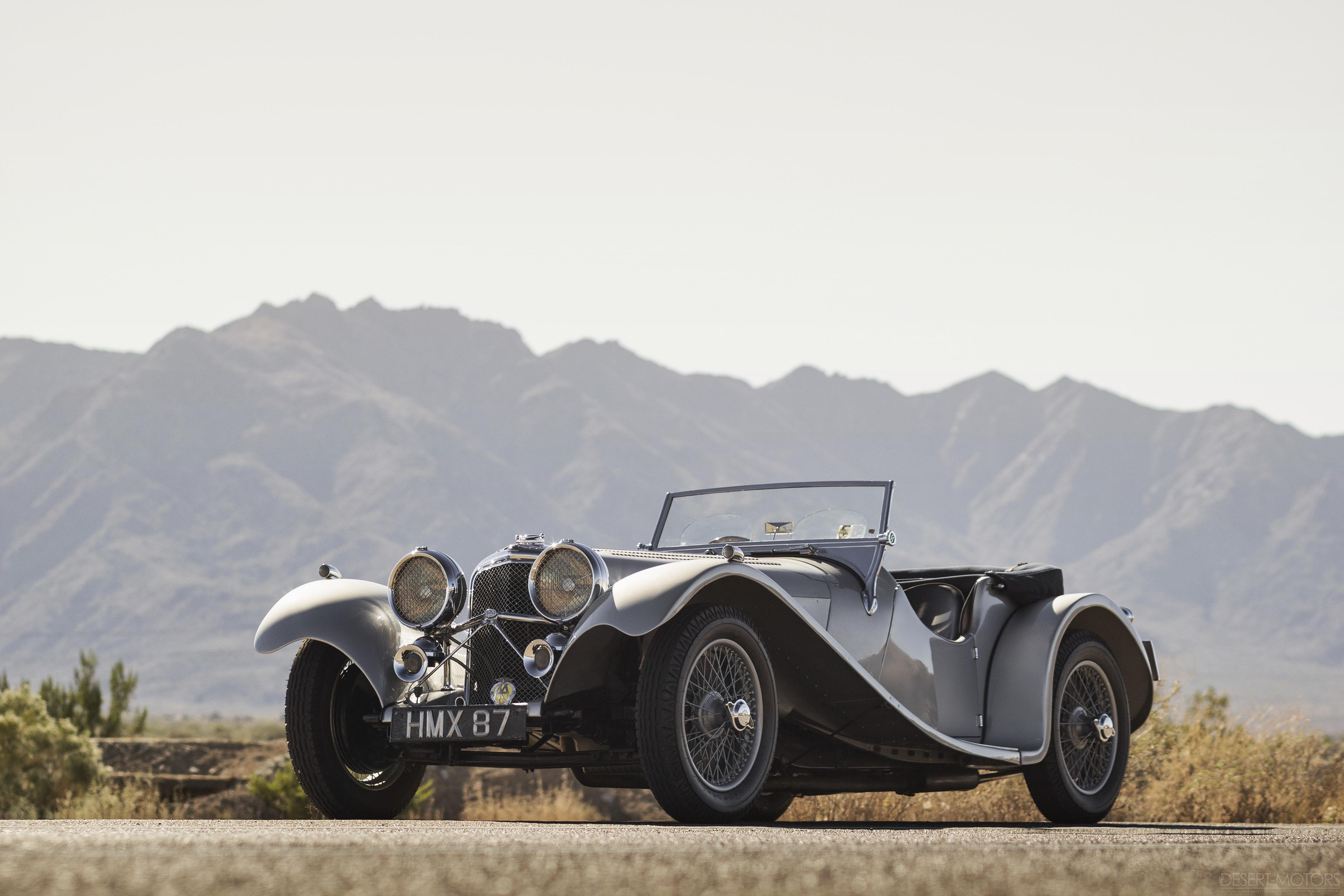 1938 Ss 100 Jaguar 3 189 Litre Roadster Desert Motors Com