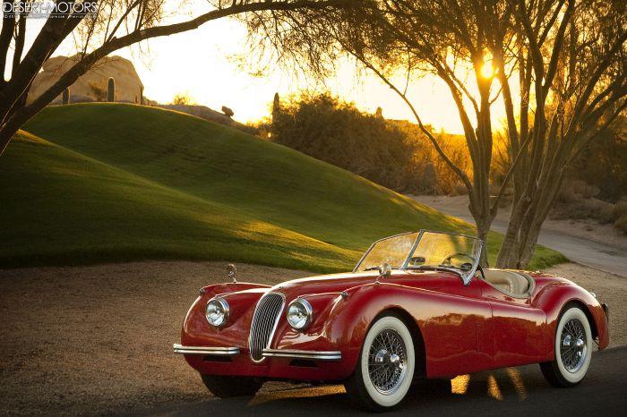 1954 Jaguar Xk120 Se Roadster Desert Motors Com